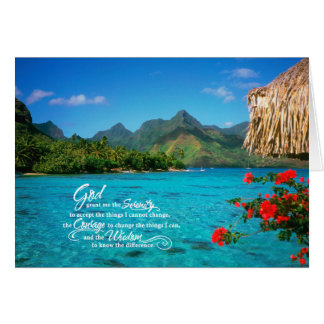 Cartes Prière et Bora Bora de sérénité