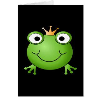 Cartes Prince de grenouille. Grenouille de sourire avec
