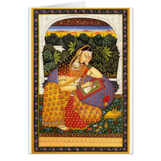 Cartes Princesse antique de Mughal d'Indien