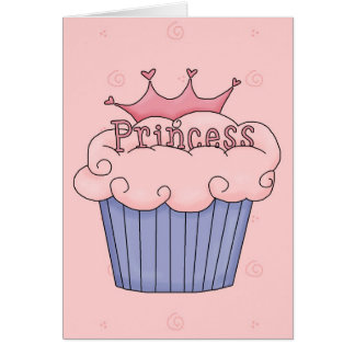 Cartes Princesse Cupcake - customisé