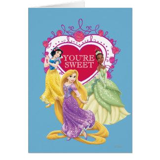 Cartes Princesse de Disney   vous êtes doux