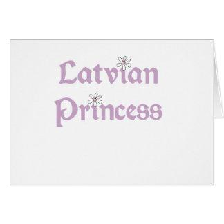 Cartes Princesse de Latvian de marguerites