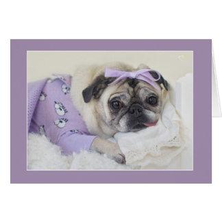 Cartes Princesse de sommeil Pug Card par des carlins et