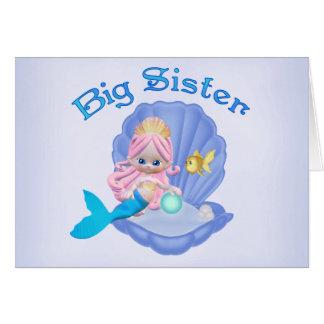 Cartes Princesse grande soeur de sirène