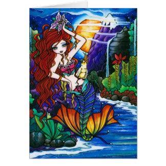 Cartes Princesse Mermaid Fairy Cockatoo Card de Maui