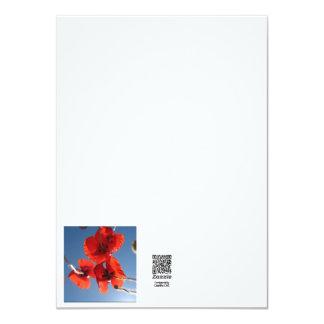 Cartes printemps carton d'invitation  11,43 cm x 15,87 cm