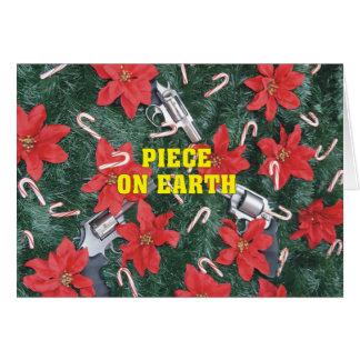 Cartes Pro morceau d'arme à feu sur Noël de la terre