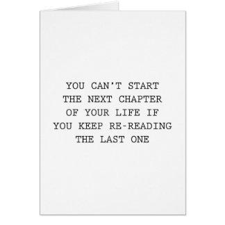 Cartes Prochain chapitre de votre vie