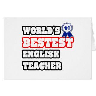 Cartes Professeur d'Anglais de Bestest du monde