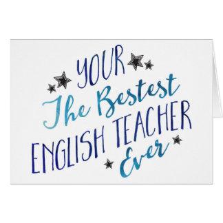 Cartes Professeur d'Anglais drôle de Mispelled Bestest