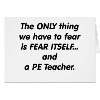 Cartes Professeur de PE de crainte