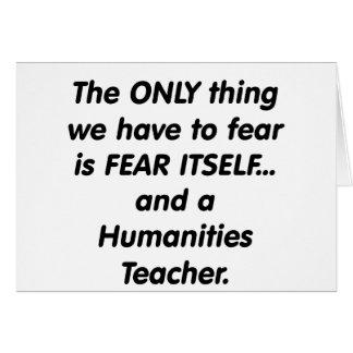 Cartes Professeur de sciences humaines de crainte