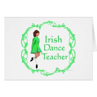 Cartes Professeur irlandais de danse d'étape - vert