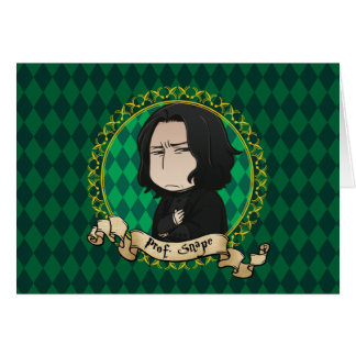 Cartes Professeur Snape d'Anime
