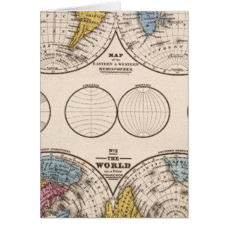 Cartes Projection équatoriale du monde et projection