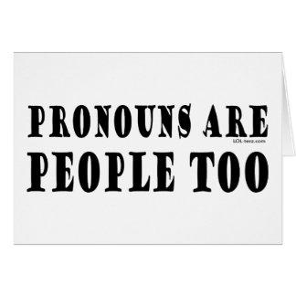 Cartes Pronoms