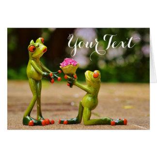Cartes Proposition de mariage de grenouille