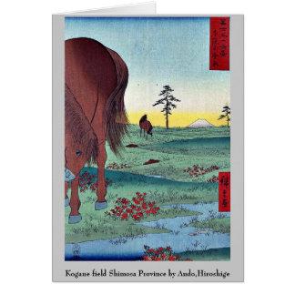 Cartes Province de Shimosa de champ de Kogane par Ando,