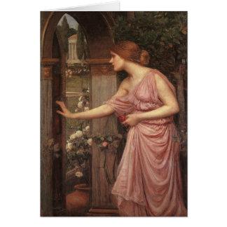 Cartes Psyché ouvrant la porte dans le jardin du cupidon