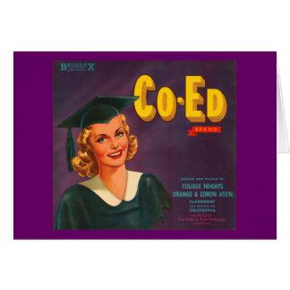 Cartes Publicité de cru d'oranges de marque de Co Ed