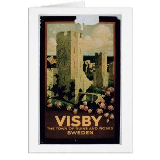 Cartes Publicité par affichage la ville de Visby, Suède
