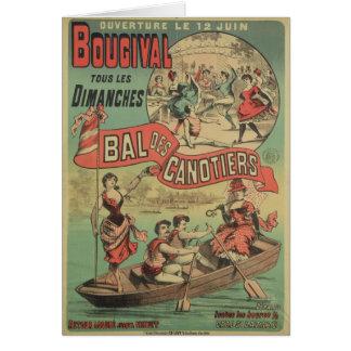Cartes Publicité par affichage 'Le Bal des Canotiers