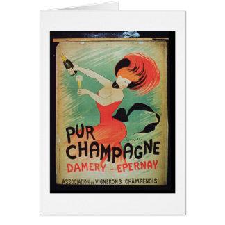"""Cartes Publicité par affichage """"Pur Champagne"""", de"""