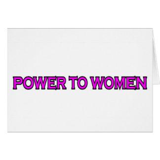 CARTES PUISSANCE AUX FEMMES