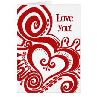 Cartes Puissance de coeur - rouge