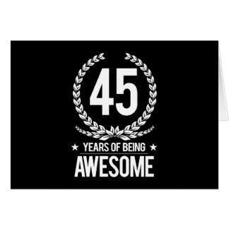 Cartes quarante-cinquième Anniversaire (45 ans d'être