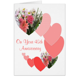 Cartes quarante-cinquième Anniversaire de mariage