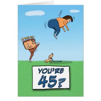 Cartes quarante-cinquième Anniversaire : Un coup de pied