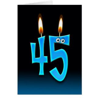 Cartes quarante-cinquième Bougies d'anniversaire