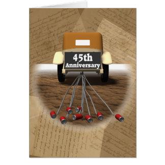 Cartes quarante-cinquième Cadeaux d'anniversaire de