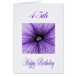 Cartes Quarante-cinquième fleur heureuse de pourpre