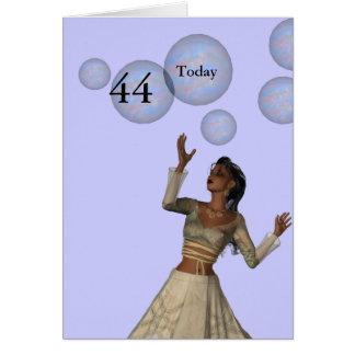 Cartes quarante-quatrième Anniversaire