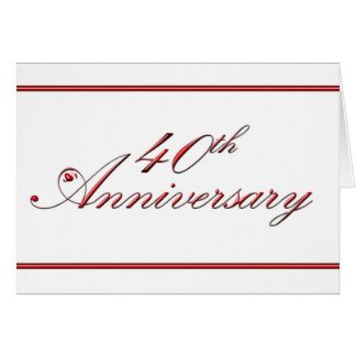 Cartes quarantième Anniversaire (anniversaire de mariage)