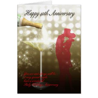 Cartes quarantième anniversaire - Champagne