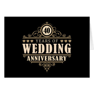 Cartes quarantième Anniversaire de mariage