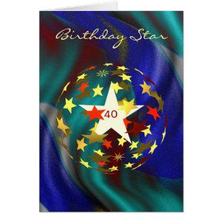 Cartes quarantième Globe d'anniversaire des étoiles d'or