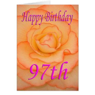 Cartes Quatre-vingt-dix-septième fleur heureuse