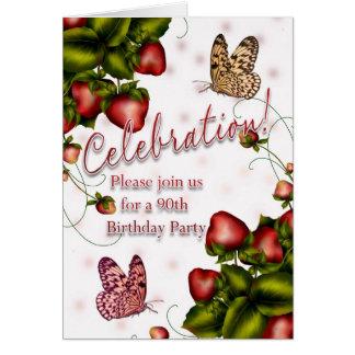 Cartes quatre-vingt-dixième Fête d'anniversaire -