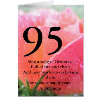 Cartes quatre-vingt-quinzième Anniversaire