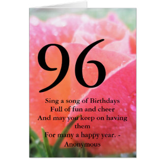 Cartes quatre-vingt-seizième Anniversaire