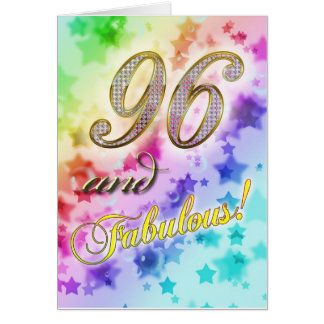 Cartes quatre-vingt-seizième anniversaire pour quelqu'un