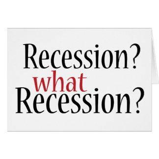Cartes Quelle récession ?