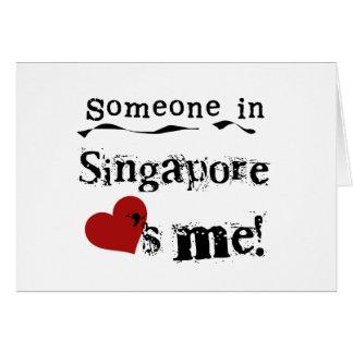 Cartes Quelqu'un à Singapour m'aime