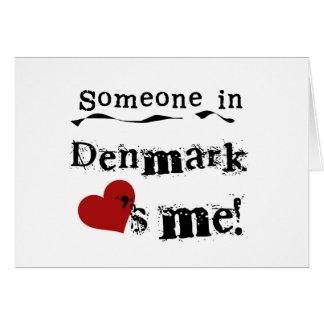 Cartes Quelqu'un au Danemark m'aime