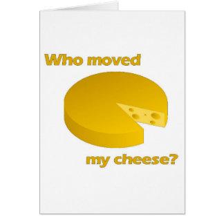 Cartes Qui a déplacé le fromage