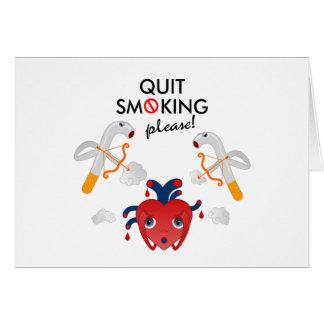 Cartes Quit fumant svp